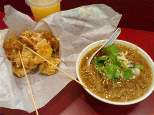 Fried Chicken and Oyster Mee Sua