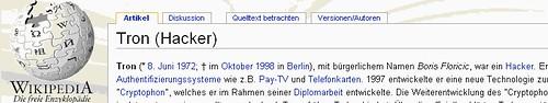 Wikipedia - Tron (Hacker)