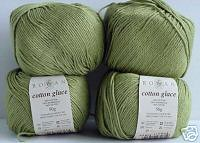 rowan cotton glace in 'bud'