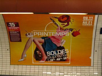 ipub jean-julien guyot carte postale publicitaire SOLDES Paris