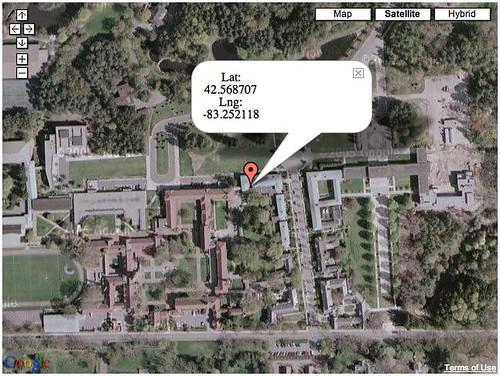 testing location