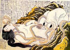 Dream of the fishermans wife (Hokusai)