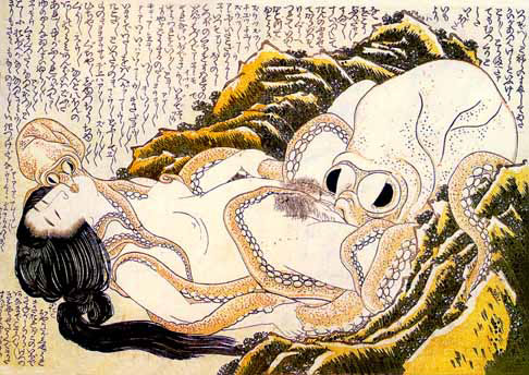 Dream of the fishermans wife (Hokusai)