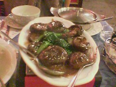 Choy sum with BIG mushrooms