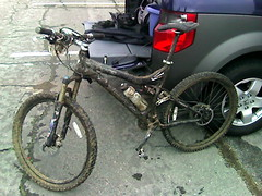 Muddy Bike After MTB Challenge 1