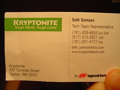 seth's business card