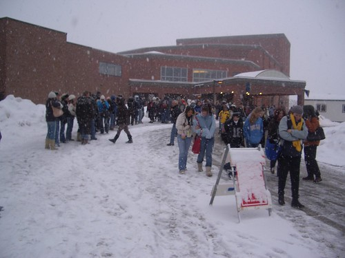 Waiting in line at Sundance