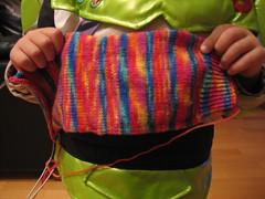 Mireia's sock, ready to frog