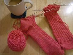Pink Ribbed