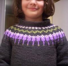 Lorin's sweater yoke