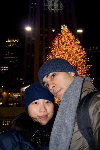 Self-Portrait with my Wife @ The Rockefeller Christmas Tree