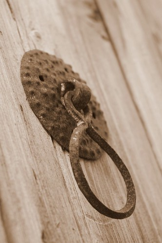 rusty door knocker