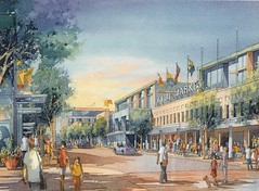 4th Street NE, view of revitalized buildings, New Town rendering (redevelopment of DC's Florida Market area)