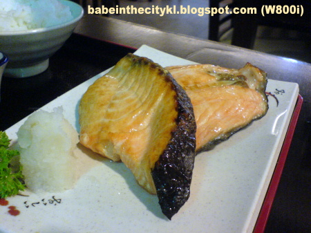 nhk - salmon shioyaki set RM17.00