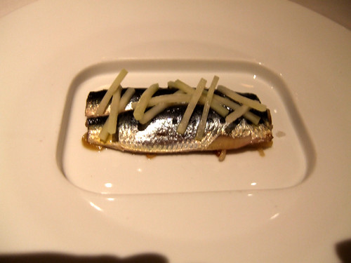 Manresa (Los Gatos) -  Marinated Sardines & Garden Kohlrabi