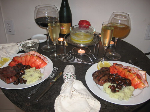New Years Eve dinner 2006 - after cooking