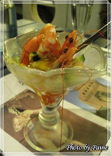 芒果龍蝦開胃菜