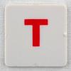hangman tile red letter T