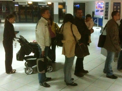 Moldovan family from entering the country (Airport)