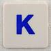 hangman tile blue letter K