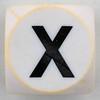 Boggle black letter X