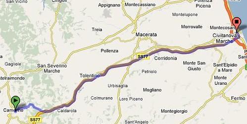 Camerino to Civitanova Marche, Italy