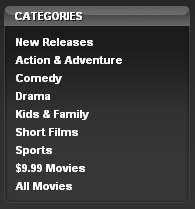 iTunes store, movies