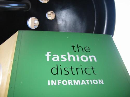 Fashion District info kiosk