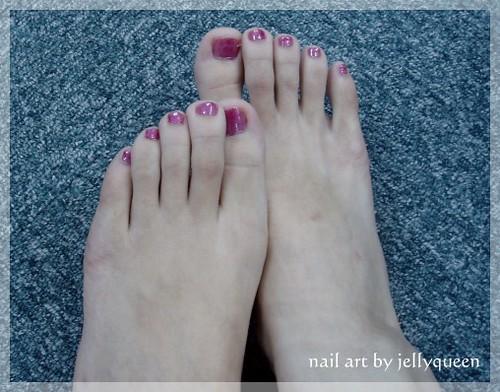 nail art - 阿拉伯舞孃...的腳