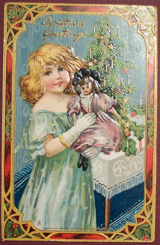 vintage christmas children images. Vintage Christmas Postcard, originally uploaded by riptheskull.