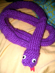 Purple Snake Scarf