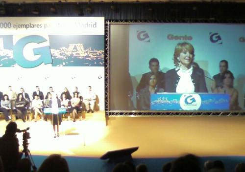 Esperanza Aguirre en la presentacion de Gente Madrid