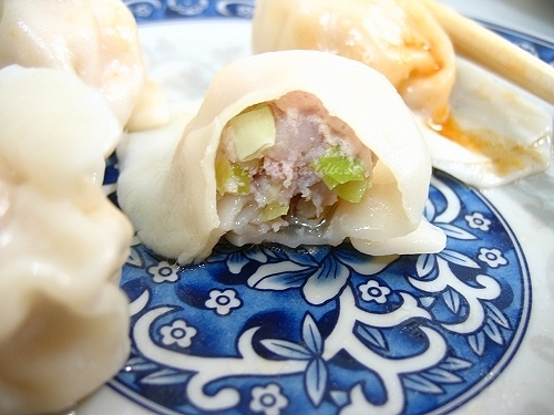 豪季水餃店-豬肉水餃-內
