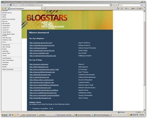 MS India BlogStars