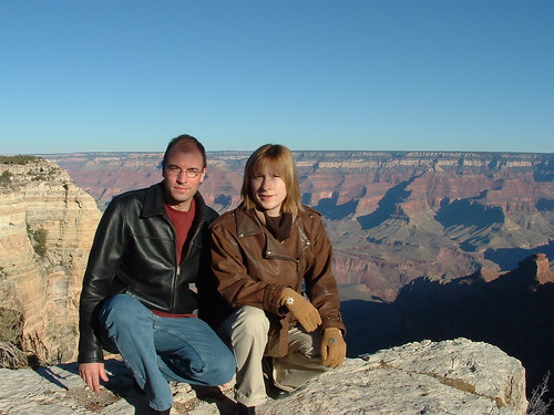 Urs et sa femme au Grand Canyon