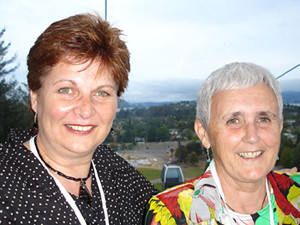 Nola and I in the Skyline Gondola in Rotorua going to the Moodle Moot conference dinner - February 2005.