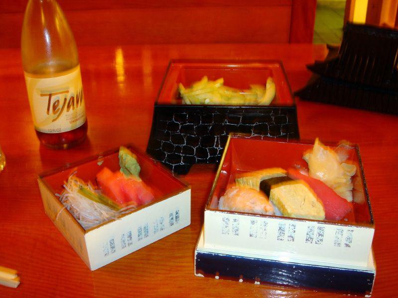 Samurai Castle - 3rd Course: Sashimi, Sushi & Cucumbers