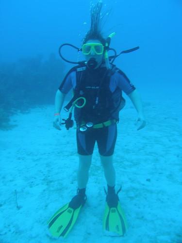 Standing on the ocean floor...
