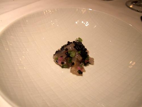 Manresa (Los Gatos) - Salad of Fluke Fin & Osetra Caviar w/ Shiso