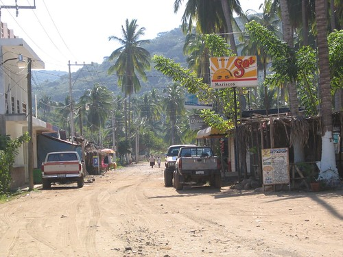 main road Chacala