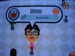 [Mwa the Mii after the haircut