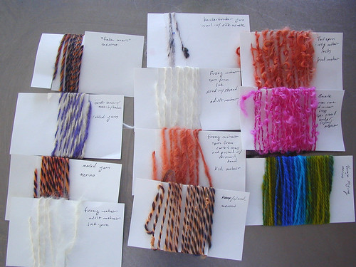 Handspun Yarn Samples