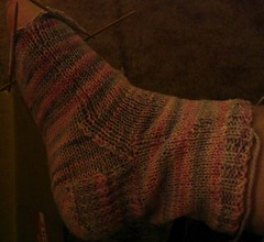Pink and Grey sock