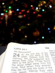 Luke 24 at Christmas