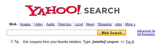 yahoo coupon search