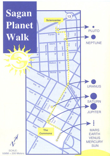 Sagan Walk map
