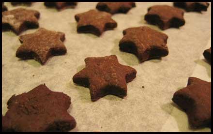 des étoiles de nowel au chocolat