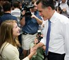 Gov. Mitt Romney Greets Students During a Campaing Stop at Saint Anselm College