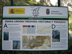 Historia y trazado de la ruta Urdón - Tresviso