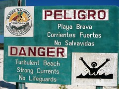 Sign at Tortuga Bay Beach